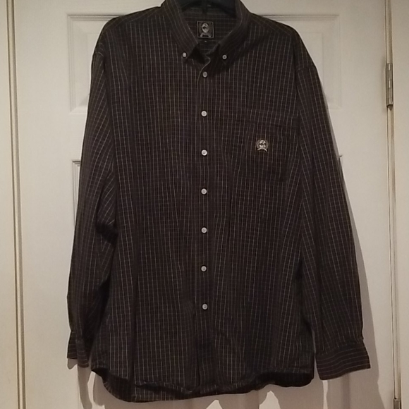 Cinch western shirt, pleated yoke